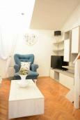 Гостиная. Черногория, Будва : Дуплекс апартамент в центре Будвы, с гостиной, тремя спальнями и балконом