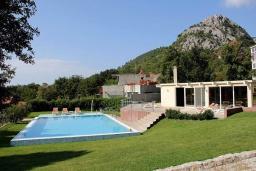 Бассейн. Черногория, Сутоморе : Роскошная вилла с бассейном и зеленым двориком, 4 спальни, 4 ванные комнаты, сауна, парковка, Wi-Fi