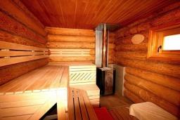 Сауна. Черногория, Сутоморе : Роскошная вилла с бассейном и зеленым двориком, 4 спальни, 4 ванные комнаты, сауна, парковка, Wi-Fi