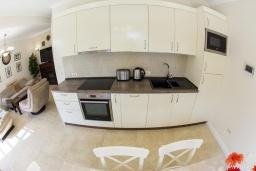 Кухня. Черногория, Риека Режевичи : Роскошная вилла с бассейном и зеленой лужайкой, 3 спальни, 3 ванные комнаты, парковка, Wi-Fi