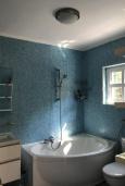 Ванная комната. Черногория, Жанице / Мириште : Прекрасная вилла с бассейном и террасой с барбекю, 5 спален, парковка, Wi-Fi