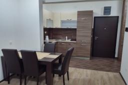 Кухня. Черногория, Будва : Апартамент с гостиной, отдельной спальней и балконом