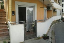 Терраса. Черногория, Рафаиловичи : Апартамент с отдельной спальней и террасой в 70 метров до моря