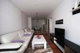 Гостиная. Черногория, Будва : Современный апартамент с гостиной, двумя спальнями и балконом