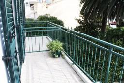 Балкон. Черногория, Игало : Комната на 3 персоны с видом на море, с кондиционером
