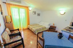 Гостиная. Черногория, Герцег-Нови : Апартамент с отдельной спальней в 100 метрах от моря