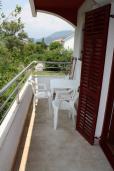 Балкон. Черногория, Игало : Студия на 2 этаже с балконом на вилле с бассейном