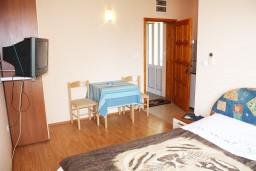 Студия (гостиная+кухня). Черногория, Игало : Студия с французской кроватью и видом на море