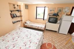 Студия (гостиная+кухня). Черногория, Герцег-Нови : Студия с большим зелёным садом и видом на море, 60 метров до пляжа