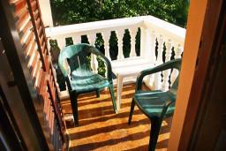 Балкон. Черногория, Герцег-Нови : Апартамент для 5 человек с двумя отдельными спальнями и балконом