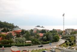 Вид на море. Черногория, Петровац : Апартамент с отдельной спальней в 350 метрах от моря