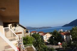 Вид. Черногория, Игало : Комфортабельная студия с балконом и видом на море.