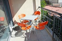 Terrace. Montenegro, Becici : Apartment with 1 bedroom in Becici