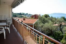 Балкон. Черногория, Пржно / Милочер : Апартаменты на 6 персон, 2 спальни, с видом на море