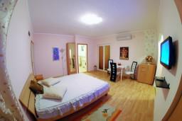 Студия (гостиная+кухня). Черногория, Тиват : Студия с шикарным видом на море