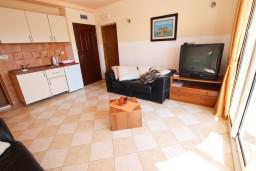 Гостиная. Черногория, Бечичи : Апартаменты с террасой с видом на море