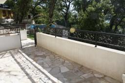 Терраса. Черногория, Герцег-Нови : Апартамент Золотой Шоколад в 700 метрах от моря