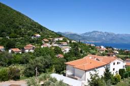 Вид. Черногория, Баошичи : Апартамент с отдельной спальней, с балконом с видом на море, на вилле с бассейном