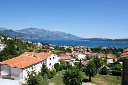Вид на море. Черногория, Баошичи : Апартамент с отдельной спальней, с балконом с видом на море, на вилле с бассейном