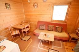 Гостиная. Черногория, Колашин : Уютный деревянный дом с отдельной спальней на втором этаже, Колашин, Черногория.