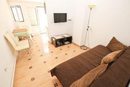 Гостиная. Черногория, Рафаиловичи : Апартамент с отдельной спальней в 200 метрах от моря