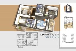 3-х комнатный апартамент, 84m2 в Бечичи