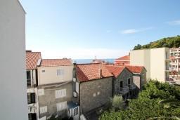Вид на море. Черногория, Петровац : Студия с видом на море, 30 метров от пляжа, с балконом с видом на море