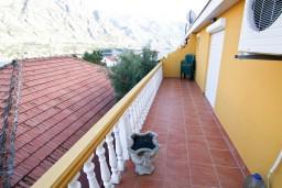 Балкон. Черногория, Прчань : Апартамент для 4-5 человек, 2 отдельные спальни, 2 ванные комнаты, с балконом с шикарным видом на залив, 100 метров до моря