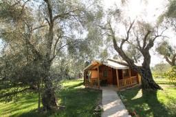 Фасад дома. Черногория, Утеха : Уютный деревянный домик с отдельной спальней в Утехе