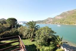 Балкон. Черногория, Лепетане : Студия с балконом с шикарным видом на море, 20 метров до пляжа