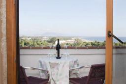 Балкон. Черногория, Велика плажа : Апартамент с 1 спальней, балконом и видом на море