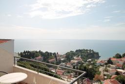 Вид на море. Черногория, Ульцинь : Апартамент с отдельной спальней, с балконом с шикарным видом на море