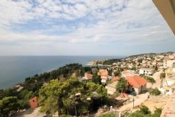 Вид. Черногория, Ульцинь : Большая студия с балконом с шикарным видом на море