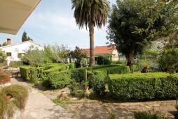 Территория. Черногория, Герцег-Нови : 2-х этажный дом с 7 отдельными спальнями, с 6 ванными комнатами, с большим зеленый двором, крытой террасой с обеденным столом и местом для барбекю