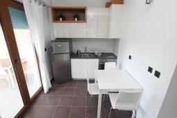 Кухня. Черногория, Игало : Современный апартамент с отдельной спальней